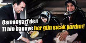 Osmangazi'den 11 bin haneye gıda yardımı