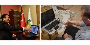 Başkan Dündar'dan sanal tokalaşma