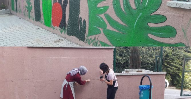 Gençler şehre renk katıyor