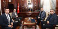 Erkan Kamat ve Yönetim Kurulumuz Vali Canbolat'ı Ziyaret Etti