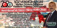 Harmancık Belediye Başkanı Ataş'tan yılbaşı mesajı